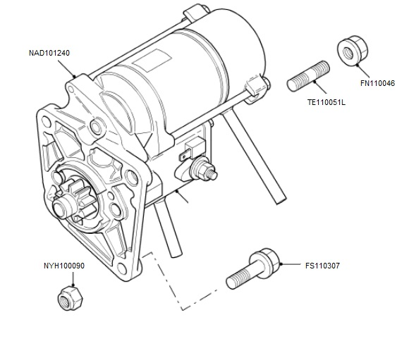 starter motor wiring diagram starter motor connections mg