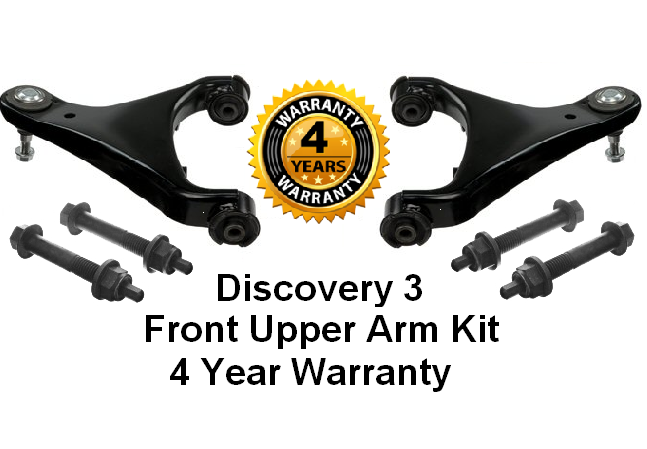 KIT619 Front Upper Arms Set Discovery 3 Left & Right With Bolt Kits