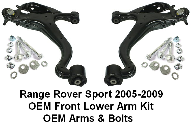 KIT683 OEM Front Lower Arms & Bolt Kits Range Rover Sport