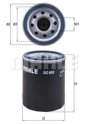 LR031439 Mahle OC602 Oil Filter LR007160 4508334