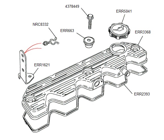 Rocker Cover Gasket 200Tdi Land Rover Defender and Discovery 1 ERR2393