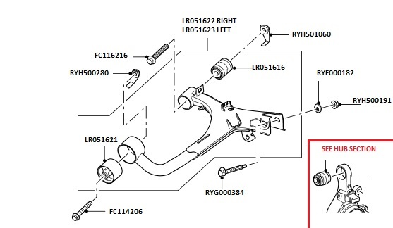 rear upper suspension arms  u0026 fittings