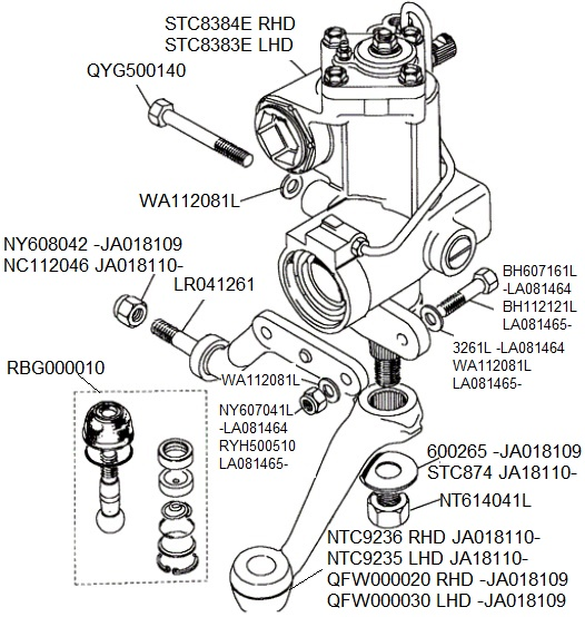 Discovery Steering Box Detail on 1996 Land Rover Discovery Steering Diagram