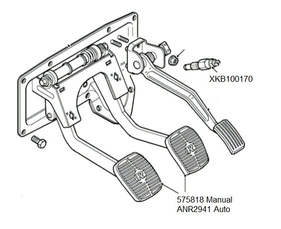 LAND ROVER DISCOVERY 2 1998-2004 AUTOMATIC BRAKE PEDAL PAD NEW ...