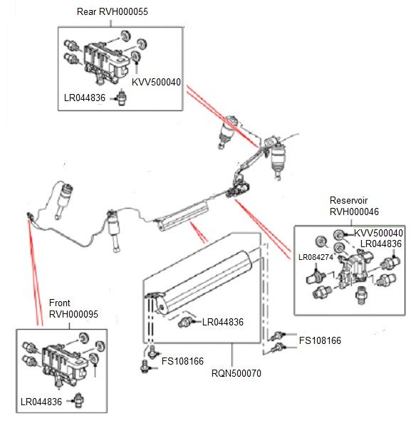 land rover rear suspension diagram