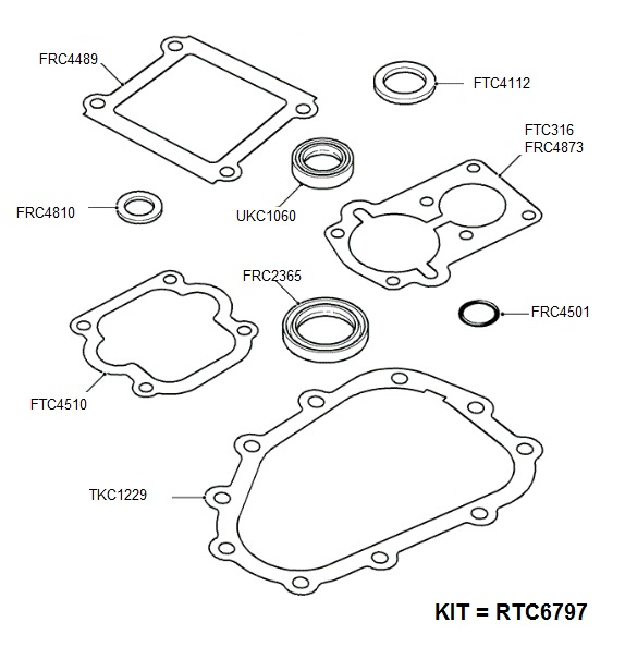 Land Rover Timing Tools also Gaskets   seals   block in addition Front shafts   non a b s  to ja032850 in addition Lt77 Transmission Gaskets And Seals 10989 C furthermore Car Electrical Relays. on range rover oil drain plug